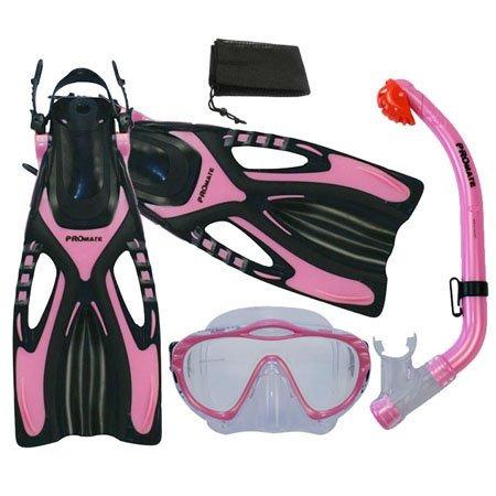kit de snorkeo scuba visor aletas y snorkel y mochila