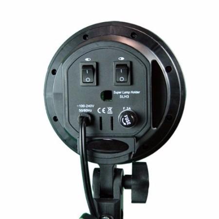 kit de socket cuádruple y softbox de 50x70cms