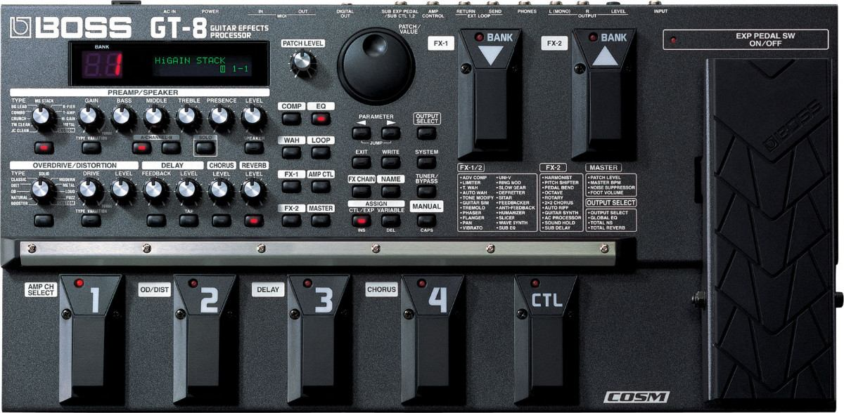 Guitar effect patches for the Boss ME-70