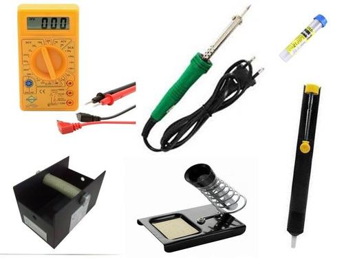 kit de soldagem multímetro ferro suporte sugador tubo frete!