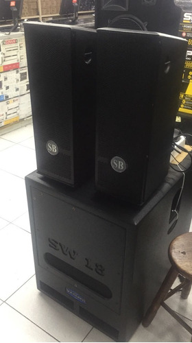 kit de som pa soundbox sistema sb 2.6 com subs de 15