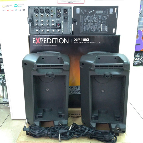 kit de som portátil samson xp150 usado 150 watts