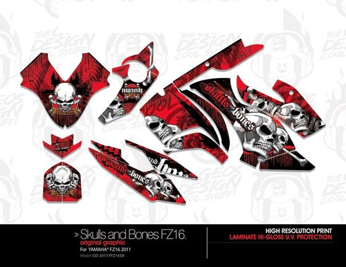 kit de sticker para yamaha fz 16