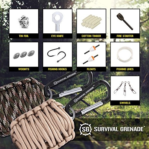 kit de supervivencia - survival grenade llavero de emergenc