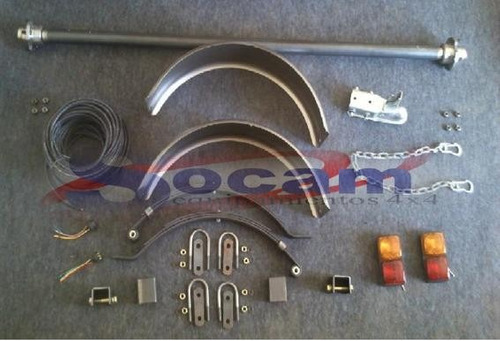 kit de suspencion+ accesorios completos para trailers