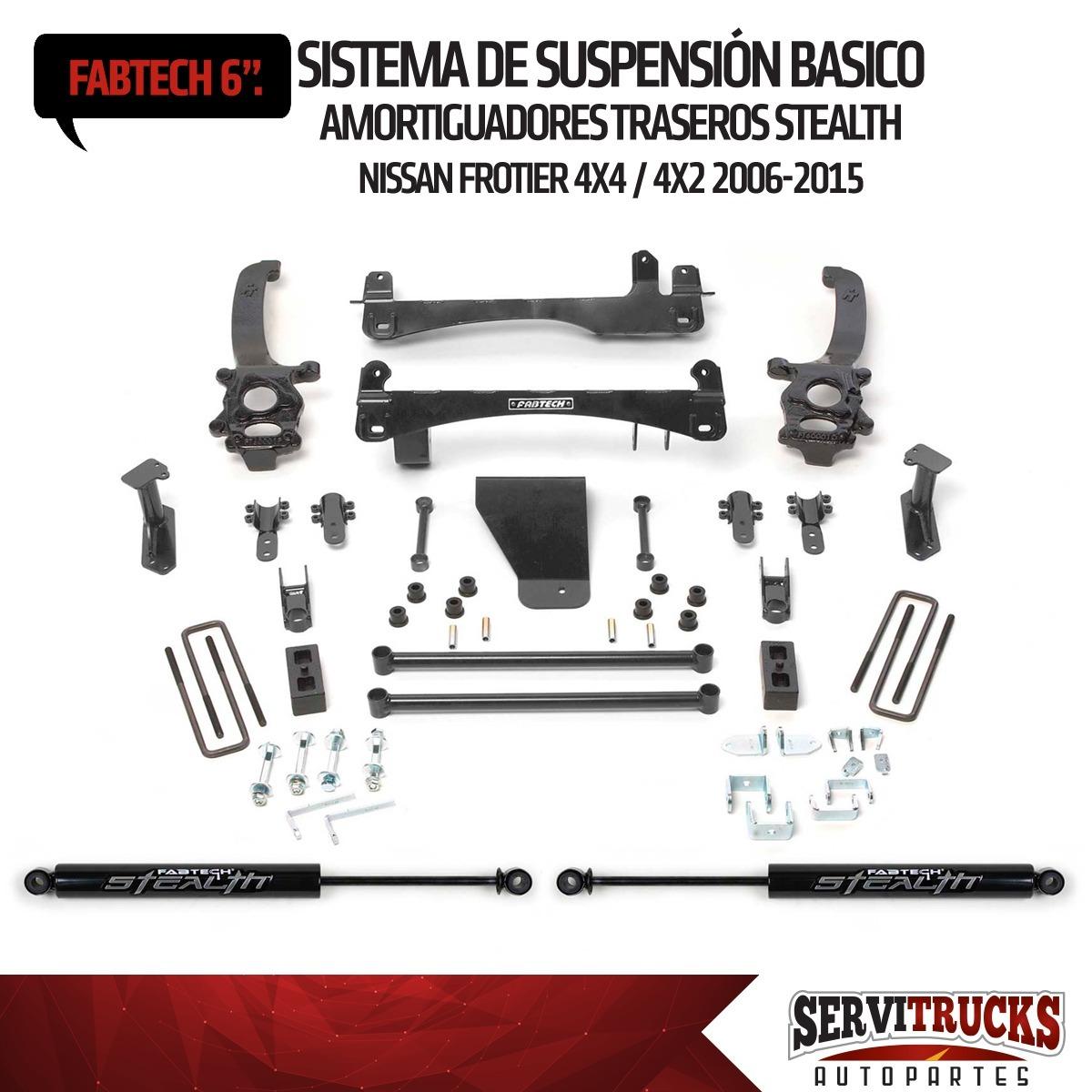 Kit De Suspension 6p Amor Tras Stealth Nissan Frontier 06-15 - Bs ...