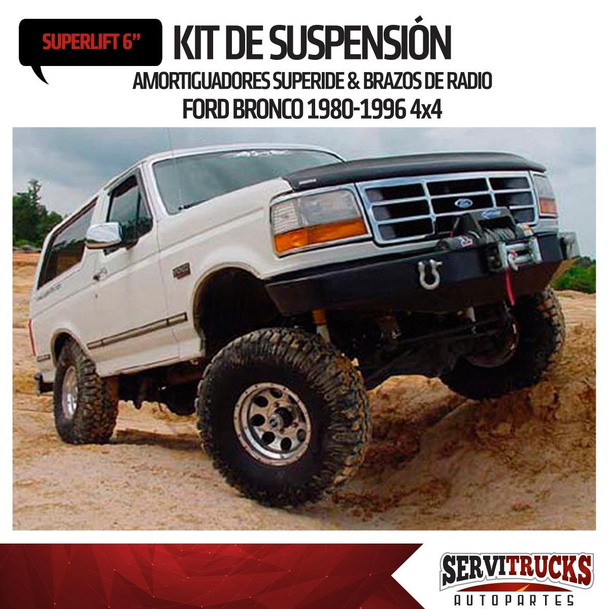 Kit De Suspension 6p Ford Bronco 4x4 1980 1996 Superlift - Bs. 3.960 ...