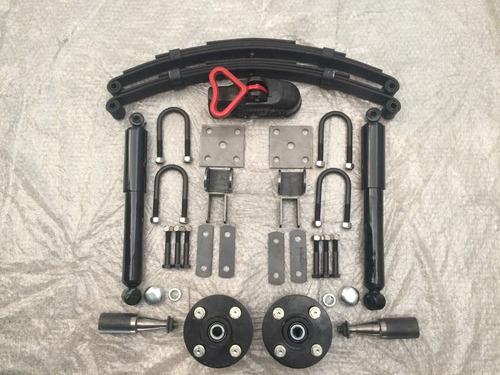 kit de suspensão para carretinha 500kg com munheca