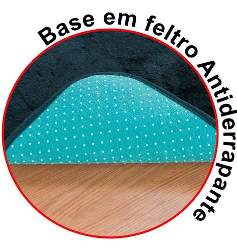 kit de tapetes preto cozinha gourmet antiderrapante 03 peças