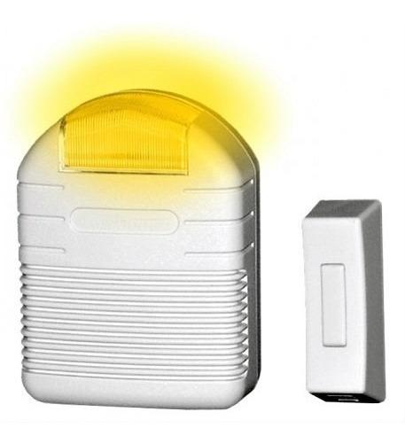 kit de timbre heathco: inalámbrico con luz estroboscópica.