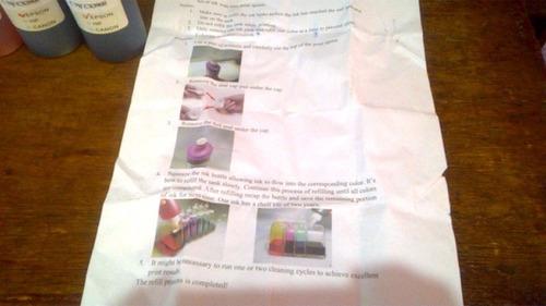 kit de tinta 4 colores 100ml para epson