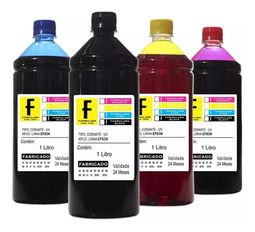 kit de tinta 4x1000ml pra impressora xp411 xp231 xp431 xp214