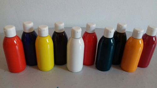 kit de tinta para aerografia com 10 cores em frascos 100 ml