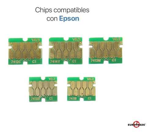 kit de tintas + chip para sublimación compatible con epson