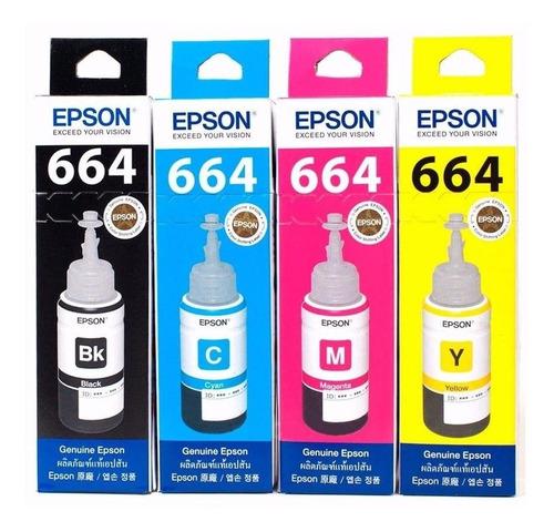 kit de tintas originales epson t664 para impresora