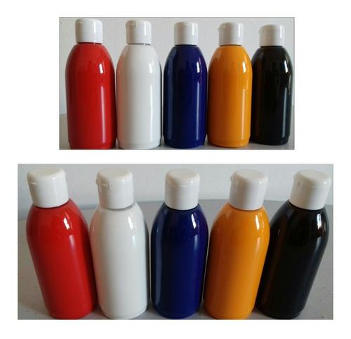 kit de tintas para aerografo com 5 cores 100ml cada - pri