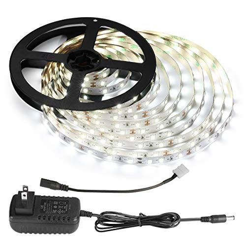 kit de tiras de luz led de 12 v, flexible, 300 leds smd 2835