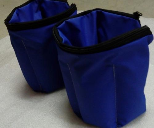 kit de tobilleras +mancuernas de fundicion  + colchoneta