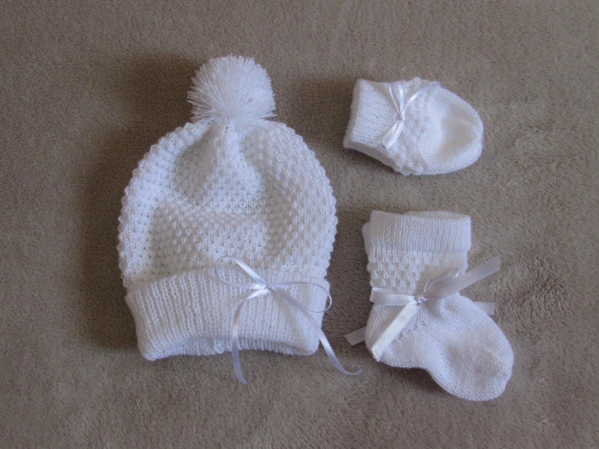 kit de touca sapatinho luvas para bebê rn. Carregando zoom. 7baa95f284b
