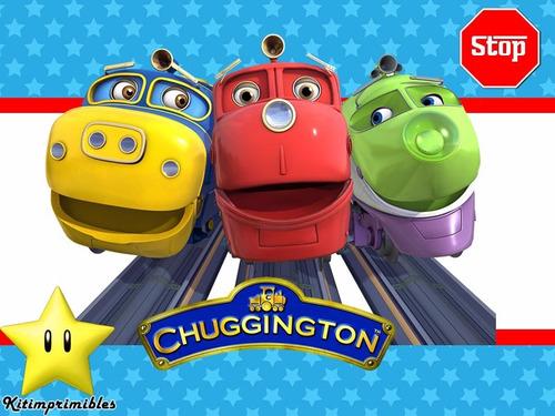 kit de trenes chuggington diseñá tarjetas, cumples y mas