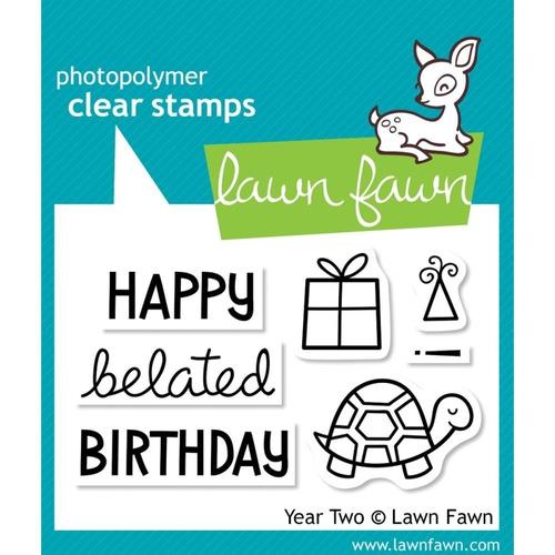 kit de troqueladora y sello happy birthday segundo año clear