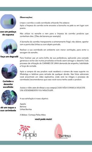 kit de três esmaltes para carimbo betinna