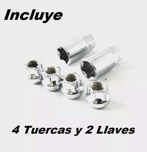 kit de tuercas tuner 12x1.25 nissan sentra np300 +llave