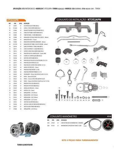 kit de turbinamento caminhão mbb om352