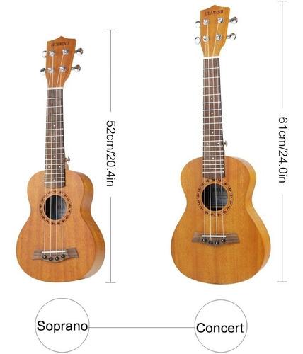 kit de ukelele de concierto profesional mahogany huawind