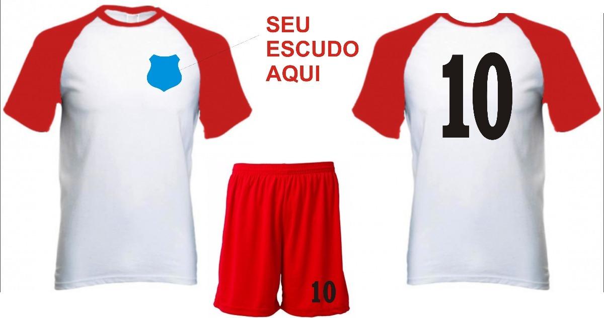 Kit De Uniforme Personalizado 10 Conjuntos- Futebol 0b211b53feb0f