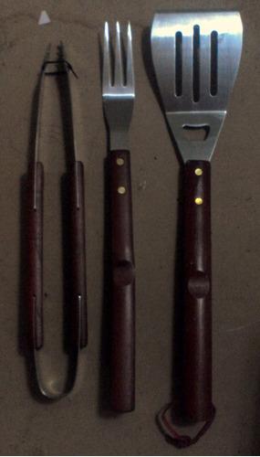 kit de utensilios de parrilla 3 piezas