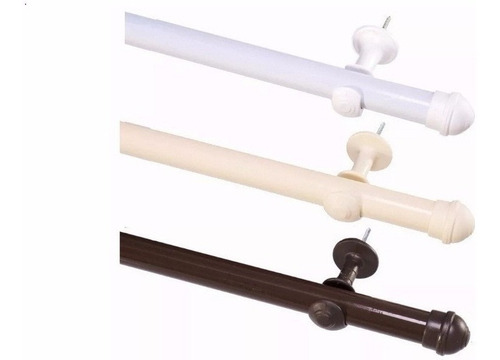 kit de varão simples para 2metros na cor na branco