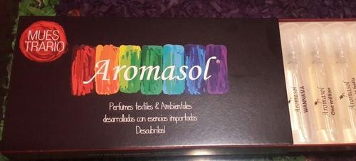 kit de ventas aromasol, catalogo + muestras de perfumes