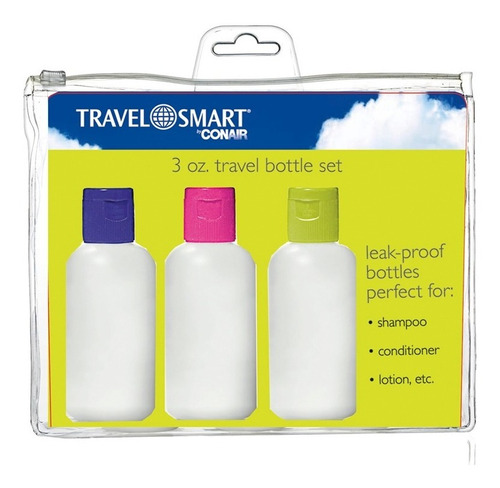 kit de viaje con 3 piezas travel smart ts233tbes