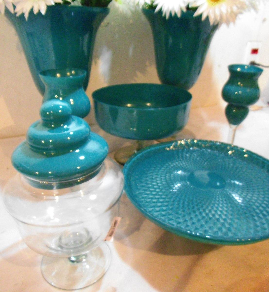 Kit De Vidro Colorido Para Decoraç u00e3o Festas 8 Peças Tiffany R$ 348,74 em Mercado Livre # Peças Grandes De Xadrez Para Decoração