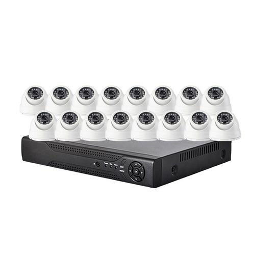 kit de vigilancia dvr + 16 domos hd + 16 balun + fuentes