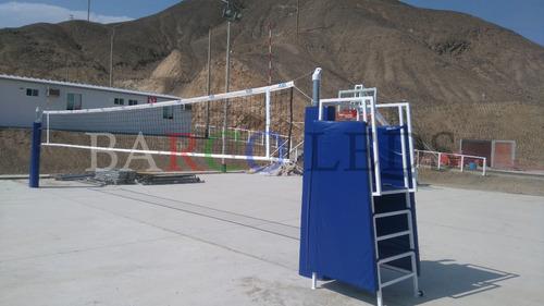 kit de voley profesional. red de voleibol, antenas y postes