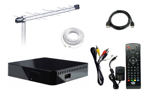 kit decodificador tda + antena alta ganancia