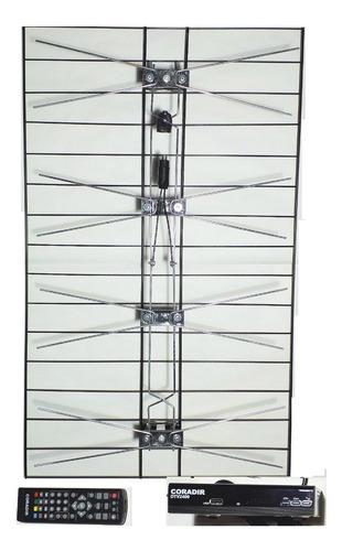 kit decodificador tda + antena parilla + 5 mts cable.anri tv
