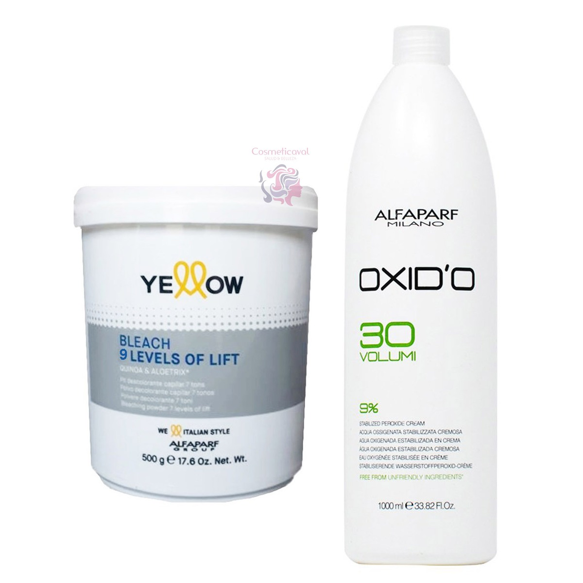 Kit Decolorante Yellow Agua Oxigenada Litro Alfaparf 33990