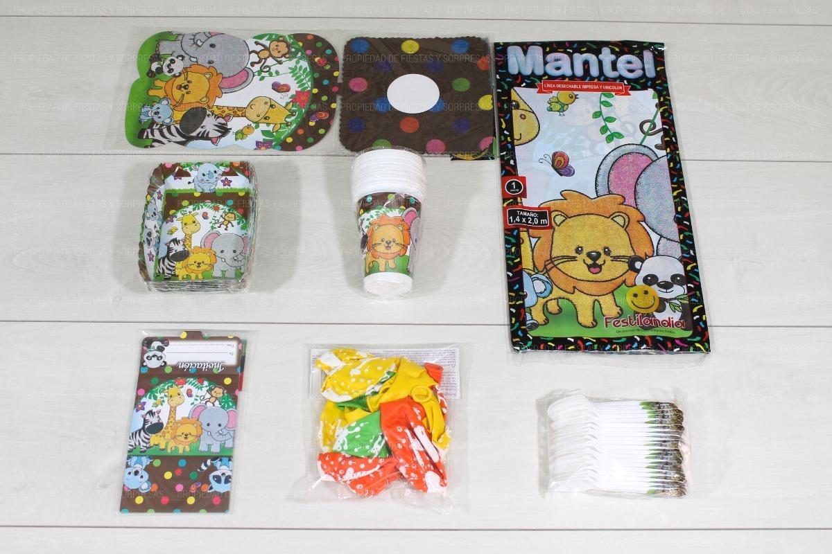 Decoracion De Baby Shower De Animales.Kit Decoracion Baby Shower Animales Selva 12 Invitados