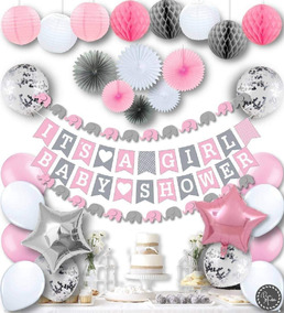 Baby Shower Nina Elefante Decoracion.Kit Decoracion Baby Shower Azul O Rosa Elefante Nino O Nina