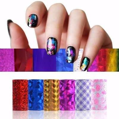 kit decoración de uñas fab foils 13 piezas