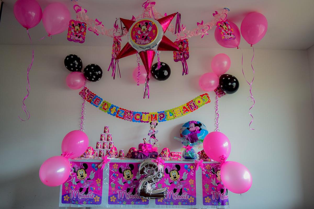 Kit Decoracion Fiesta Infantil Minnie 61 Articulos 39000 En - Adornos-fiesta-infantil
