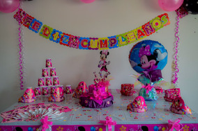 Kit Decoracion Fiesta Infantil Minnie 72 Artículos