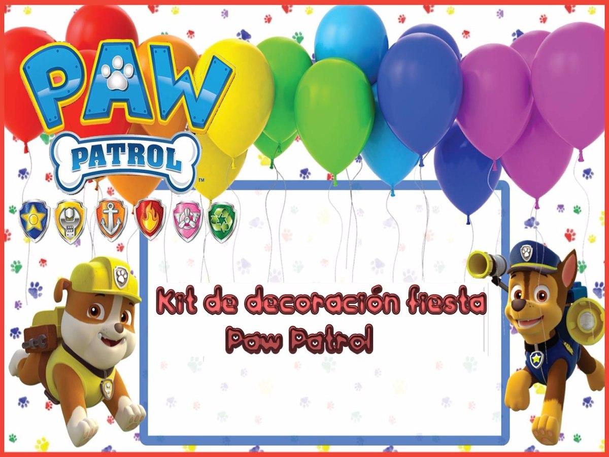 Kit decoraci n fiesta patrulla canina en - Decoracion de la patrulla canina ...