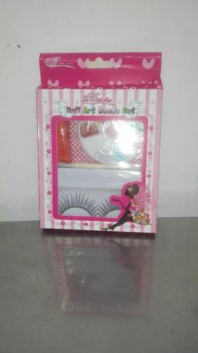 kit decoración para uñas + pestañas postizas  entrego ya!