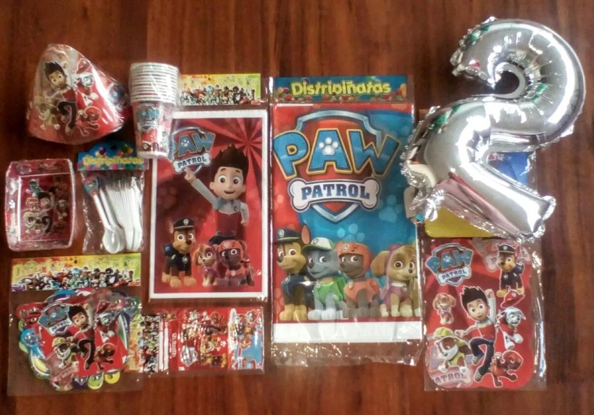 Kit Decoracion Paw Patrol Patrulla Canina Para 12 Niños Obse