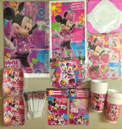 kit decoracion piñata fiesta infantil minnie mouse