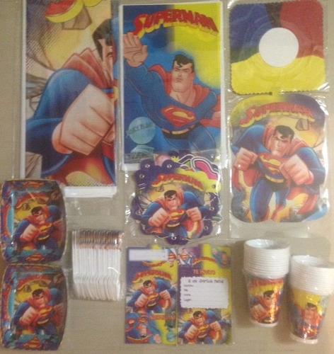 kit decoracion piñata fiesta infantil piñata superman